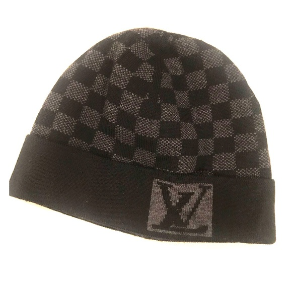 24b69bff2bc9 Louis Vuitton Other - Louis Vuitton Damier Wool Hat M74197 (Authentic)